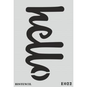 biStencil Şablon 25x35cm E-022