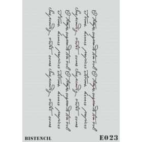biStencil El Yazısı Şablon 25x35cm E-023