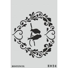 biStencil Kuşlar Şablon 25x35cm E-024