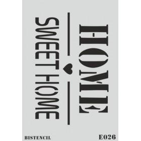 biStencil Sweet Home Şablon 25x35cm E-026