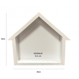Çatılı Ev Model Kokulu Taş Panosu 35x35cm