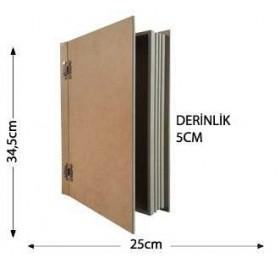 Antik Kitap Kutu Büyük Boy Ahşap Obje 34x25cm