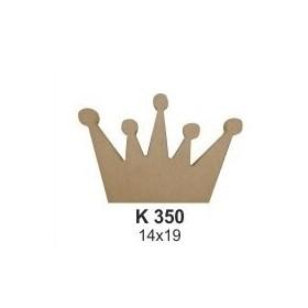 18mm Ahşap Kral Tacı Biblo 14x19cm