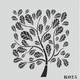 biStencil Şablon 25x25cm K-025