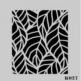 biStencil Şablon 25x25cm K-027