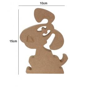 18mm Ahşap Şaşkın Köpek 15x10cm
