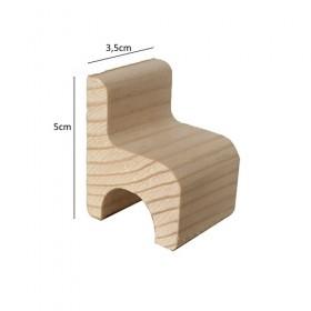Sandalye Minyatür Ağaç Obje 5x3,5cm