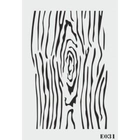 biStencil Ağaç Dokusu Şablon 25x35cm E-031