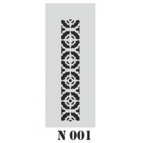 biStencil Şablon 10x25cm N-001