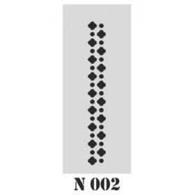 biStencil Şablon 10x25cm N-002