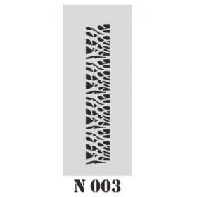 biStencil Şablon 10x25cm N-003