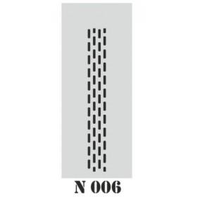 biStencil Şablon 10x25cm N-006