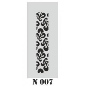 biStencil Şablon 10x25cm N-007