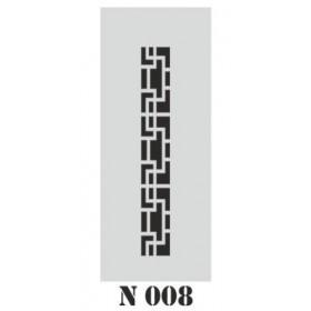 biStencil Şablon 10x25cm N-008