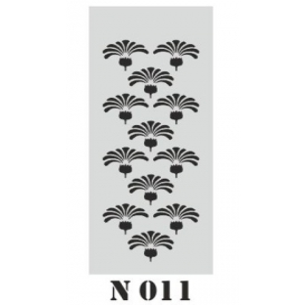 biStencil Şablon 10x25cm N-011