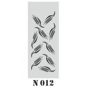 biStencil Şablon 10x25cm N-012