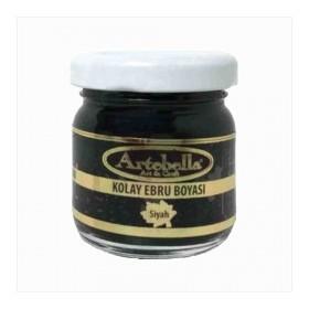 Artebella 3608 SİYAH Kolay Ebru Boyası 40cc