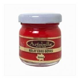 Artebella 3610 KIRMIZI Kolay Ebru Boyası 40cc