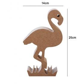 Ayakta Durabilen Flamingo Ahşap Obje 25cm