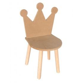 Taçlı Çocuk Sandalyesi Ahşap Obje