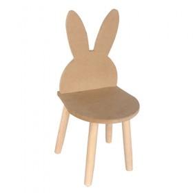 Tavşan Kulak Çocuk Sandalyesi Ahşap Obje