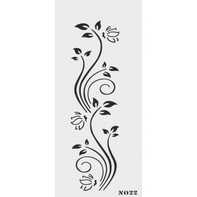 biStencil Şablon 10x25cm N-022