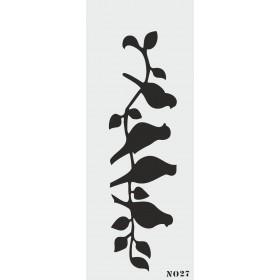 biStencil Dalda Kuşlar Şablon 10x25cm N-027