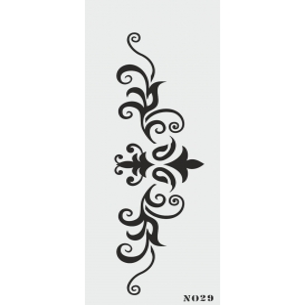 biStencil Şablon 10x25cm N-029
