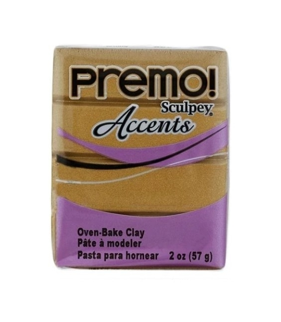 Sculpey Premo Accents Ekstra Efektli Polimer Kil 5517 Antique Gold