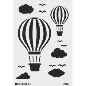 biStencil Uçan Balon Şablon 25x35cm E-037