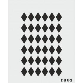 biStencil Şablon 14x18cm Y-003