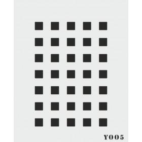 biStencil Şablon Kareli 14x18cm Y-005