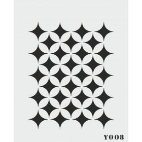 biStencil Şablon 14x18cm Y-008