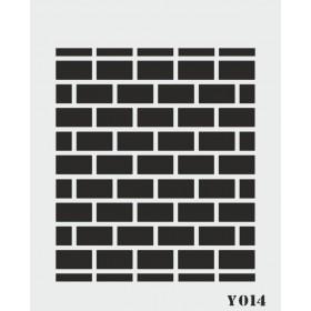biStencil Şablon 14x18cm Y-014