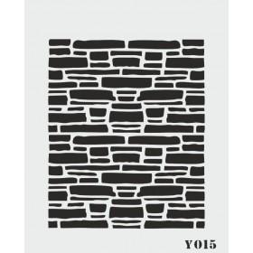 biStencil Şablon 14x18cm Y-015
