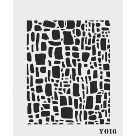 biStencil Şablon 14x18cm Y-016