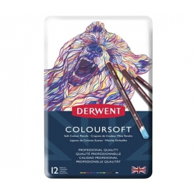 Derwent Coloursoft Pencils Yumuşak Kuruboya Kalemi 12'li Teneke Kutu