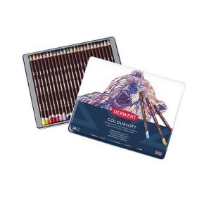 Derwent Coloursoft Pencils Yumuşak Kuruboya Kalemi 24'lü Teneke Kutu