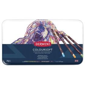 Derwent Coloursoft Pencils Yumuşak Kuruboya Kalemi 72'li Teneke Kutu