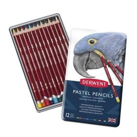 Derwent Pastel Pencil 12'li Teneke Kutu Pastel Kalem Seti
