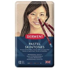 Derwent Pastel Pencil Skintones 12'li Pastel Kalem Seti Ten Renkleri