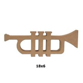 18mm Ahşap Trompet Biblo 18x6cm