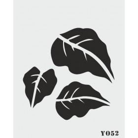 biStencil Yapraklar Şablon 14x18cm Y-052