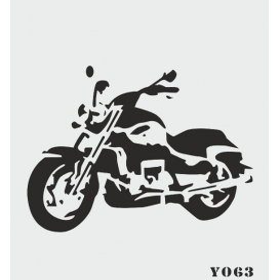 biStencil Motosiklet Şablon 14x18cm Y-063