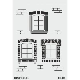 biStencil Pencereler Şablon 25x35cm E-040