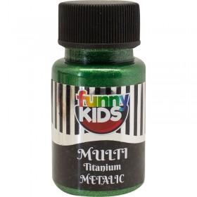 Funny Kids Multi Titanium Metalik Boya 50cc - 2852 YEŞİL