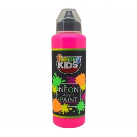 Funny Kids Neon Akrilik Boya 500cc - 4802 PEMBE