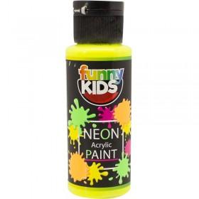 Funny Kids Neon Akrilik Boya 70cc - 4800 SARI