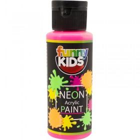Funny Kids Neon Akrilik Boya 70cc - 4802 PEMBE