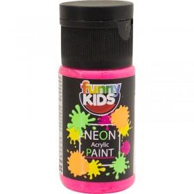 Funny Kids Neon Akrilik Boya 20cc - 4802 PEMBE